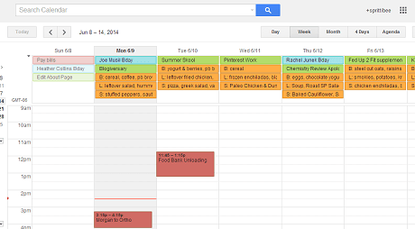 Adding a Menu Plan to Google Calendar
