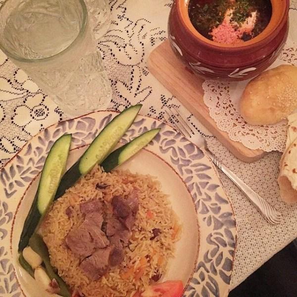Borscht and Uzbek Plov