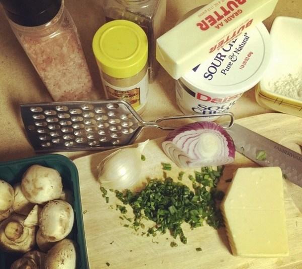 Ingredients for Mushroom Julienne