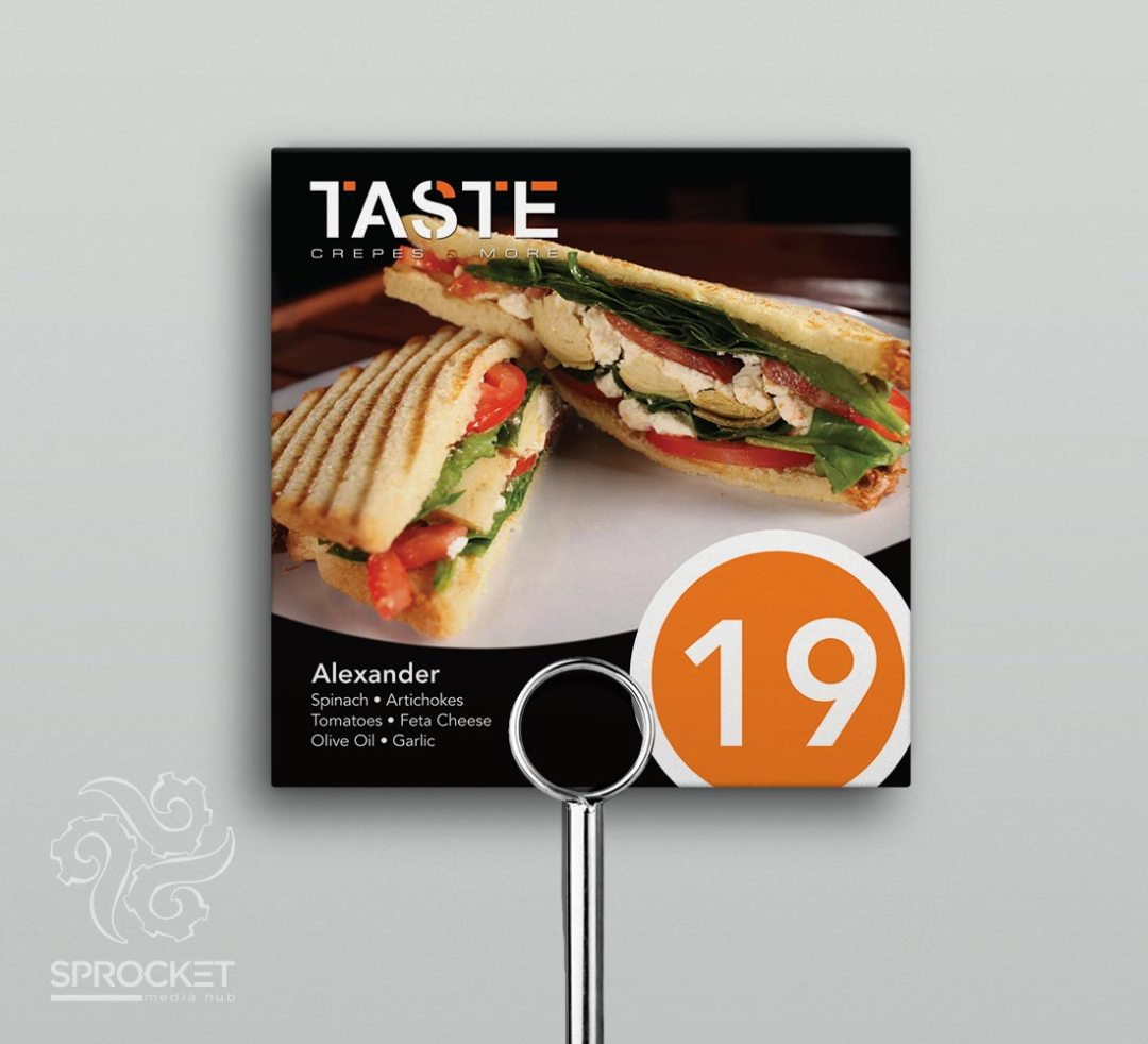 Table Numbers Design
