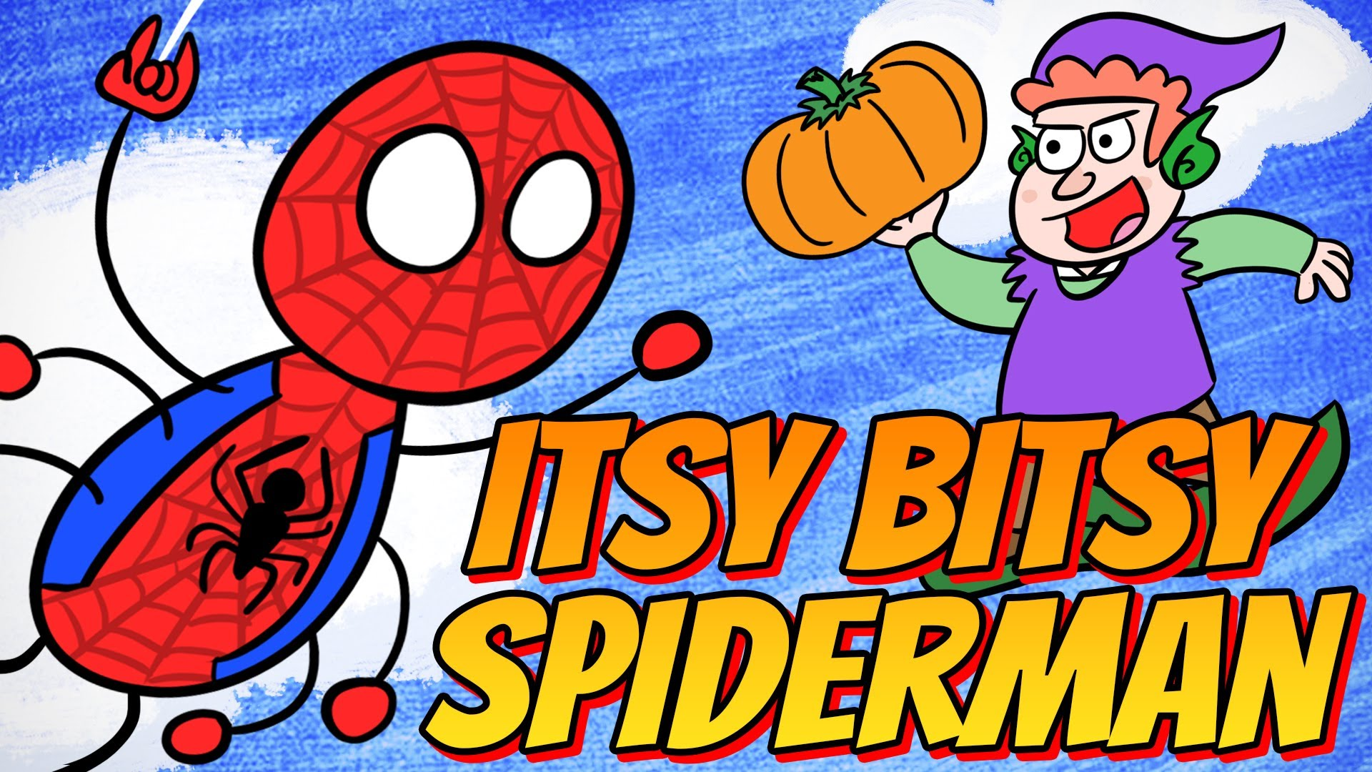 Superhero Nursery Rhymes The Itsy Bitsy Spiderman