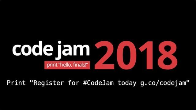 code jam 2018