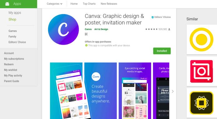 The Canva app