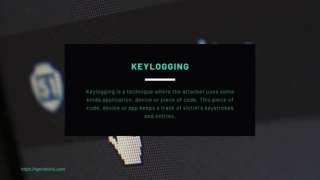 Keylogging