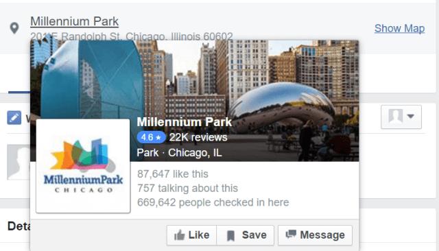 Facebook Events Location Highlight