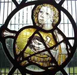 Roundel Stained Glass Window