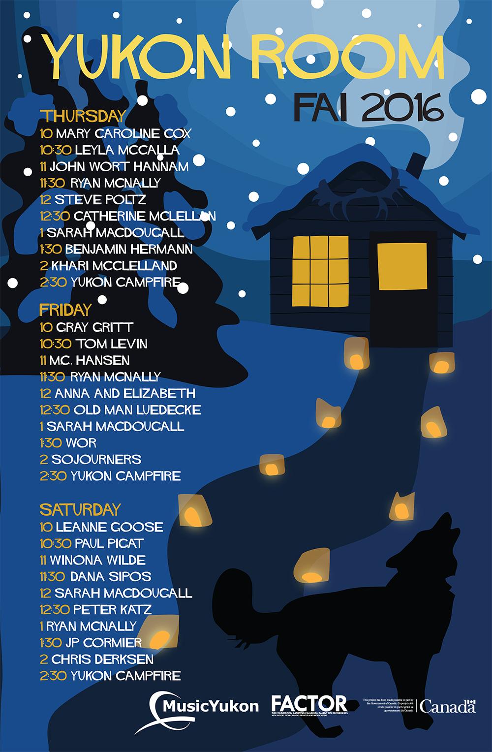 Music Yukon Folk Alliance poster