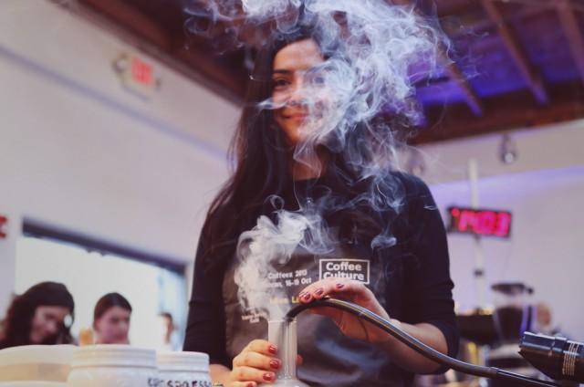 Laila_Ghambari_2014_Big_Western_Regional_Barista_Competition_Smoke