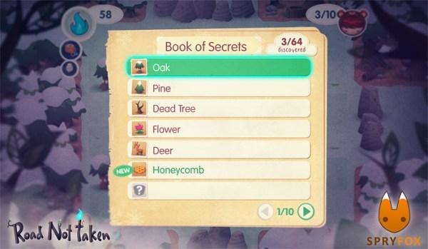 The book of secrets in Road Not Taken