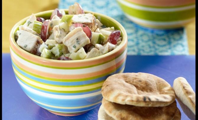 Lemony Chicken and Red Grape Salad