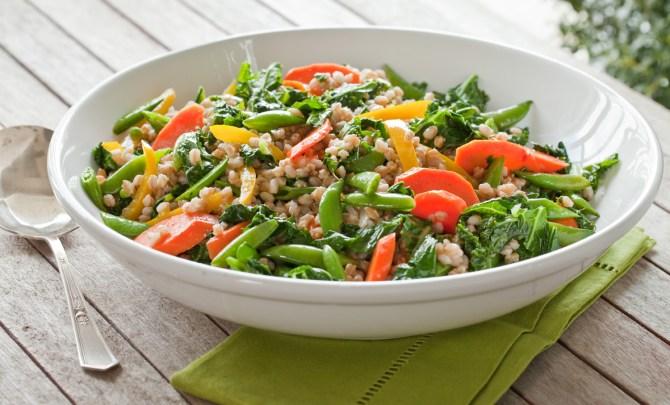 farro-kale-carrot-sugar-snap-pea-spring-season-food-relish