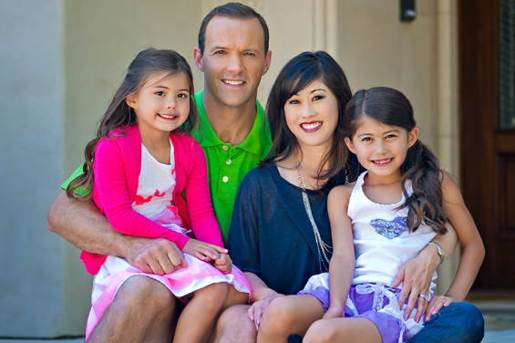 Kristi Yamaguchi and her family