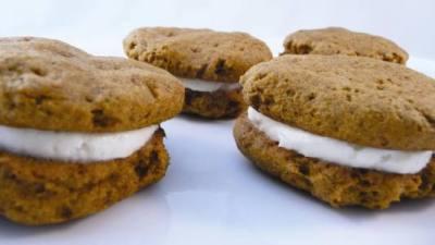Gluten-free pumpkin sandwich cookies