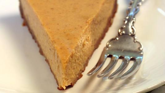 Pumpkin Tofu Cheesecake