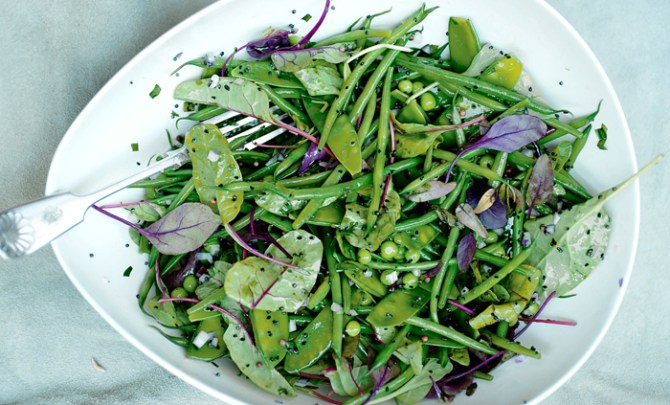 green-bean-salad-mustard-seeds-tarragon-plenty-vegetarian-cookbook-recipe-health-diet-spry