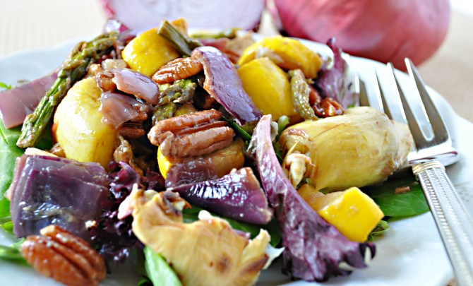 roasted-vegetables-mixed-green