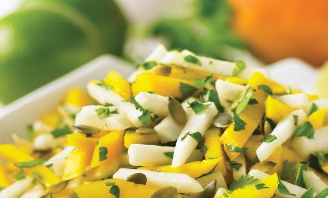 eat-raw-eat-well-cookbook-mango-jicama-pumpkin-herb-salad-health-recipe-diet-nutrition-spry