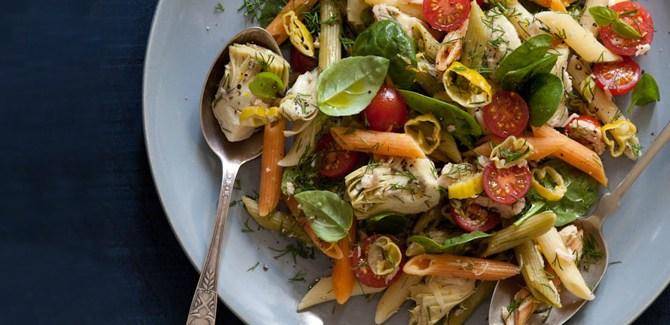 tri-colour-pasta-salad-eat-clean-diet-vegetarian-health-recipe-diet-food-spry