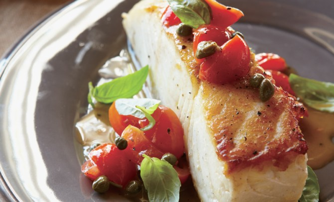 cat-cora-iron-chef-food-network-bone-health-recipe-halibut-recipe-diet-spry