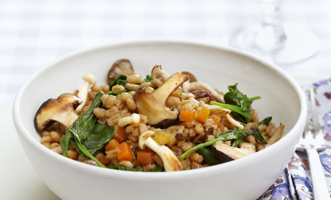pearl-barley-mushroom-pilaf-essential-low-fat-cookbook-diet-health-spry