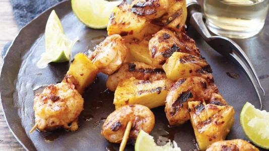 shrimp-pineapple-skewers