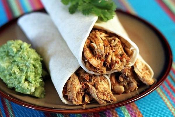 Fiesta Salsa Shredded Chicken, an easy Crock Pot recipe.