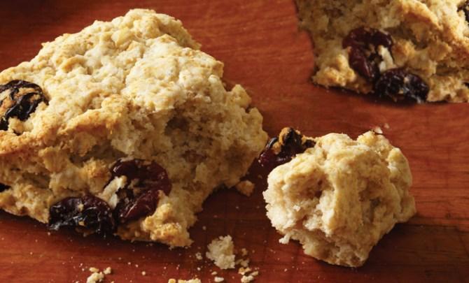 Gluten-free Cherry Oat Scones recipe.