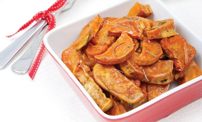 Healthy Honey Glazed Sweet Potatoes recipe.