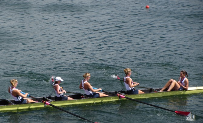 Mary Whipple is the coxswain of the US Olympic rowing team.