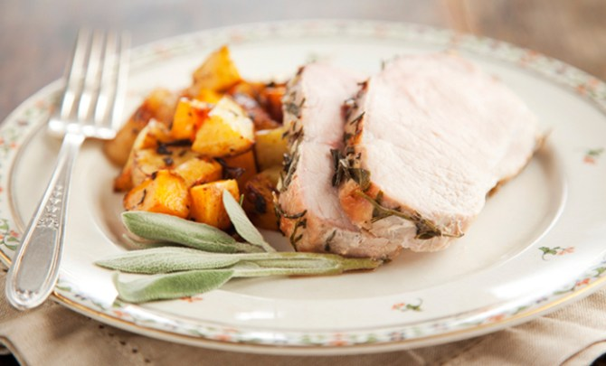 Paula Deen's Rosemary Roasted Pork.