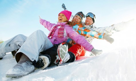 Friends-Sled-Snow-Happy-Laugh-Joy-Spry-475x284
