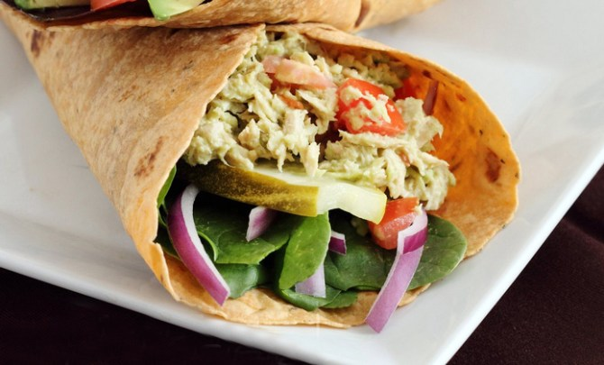 Avocado Tuna Salad Wrap recipe.