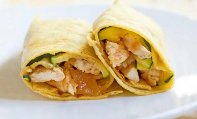 Chicken Mango Chutney Wrap recipe.