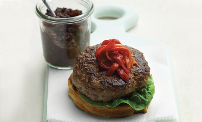 Grilled Lamb Burger with Olive Tapenade recipe.