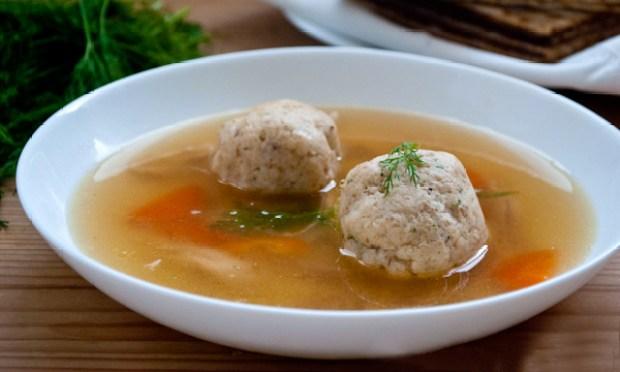 A classic Jewish recipe, Matzo Ball soup.