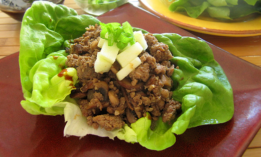 Spiced Turkey Wraps with Green Apple Butter Lettuce Wraps recipe.
