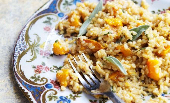 Butternut squash risotto recipe.