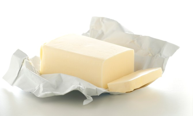 The health comparision between butter and margarine.