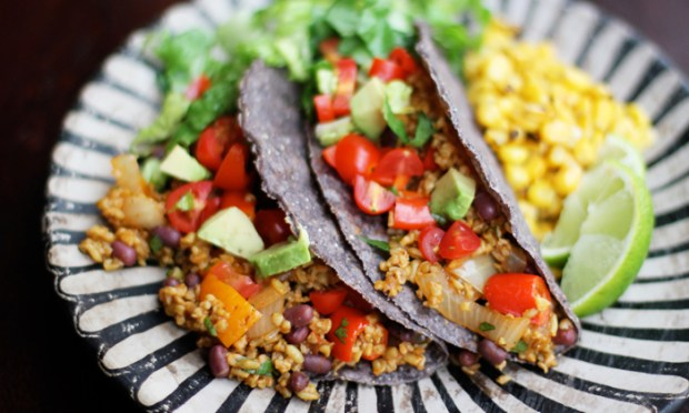 Recipe for Freekeh Vegetarian Tacos.