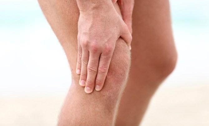 Man with arthritis in knee.