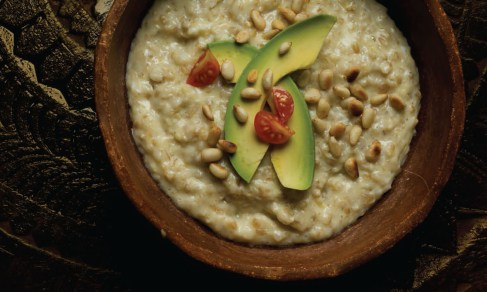 savory-oatmeal-pine-nuts-avocado-egg-spry