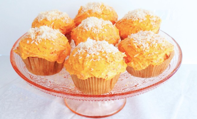 Goji Berry Toasted Coconut Cupcakes recipe.