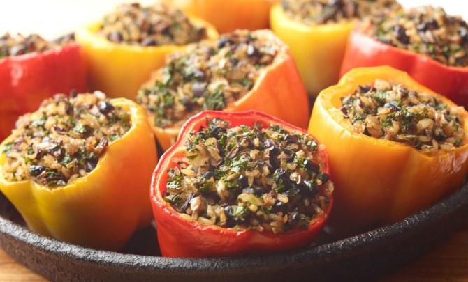 Bel-Peppers-Stuffed-Chicken-Kale-Lentil-Pilaf-Spry
