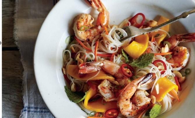 Curtis Stone Grilled Shrimp Pasta recipe.