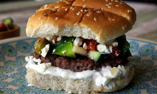 My Big Fat Greek Burger recipe.