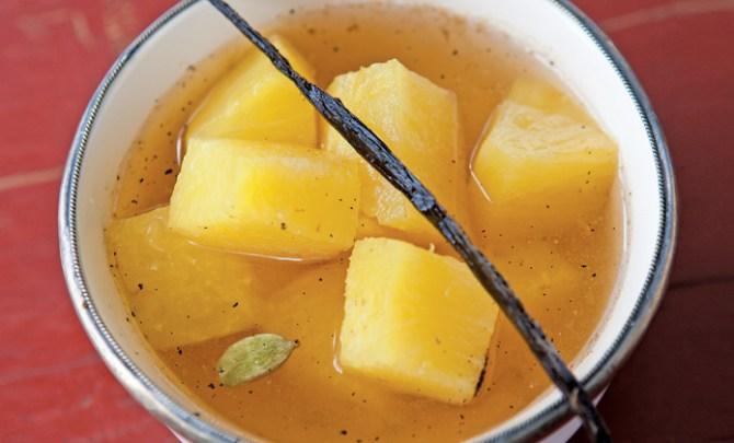 Honey Poached Pineapple recipe.