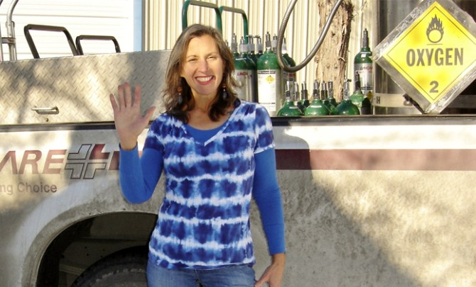 Susie Rosso leads a healthy life while suffering from COPD.