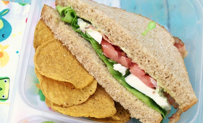 Caprese BLT Sandwich recipe.