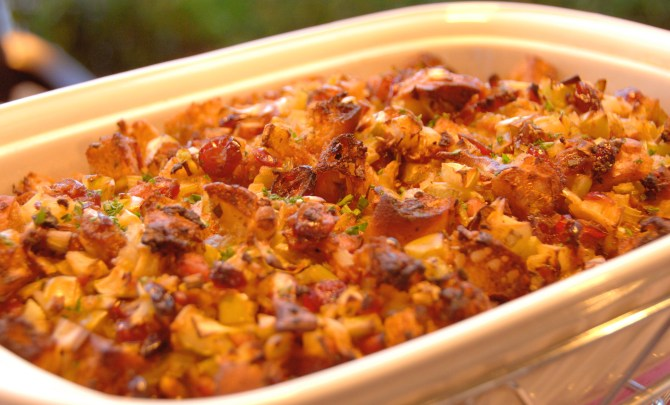Cranberry Apple Sausage Stuffing 2