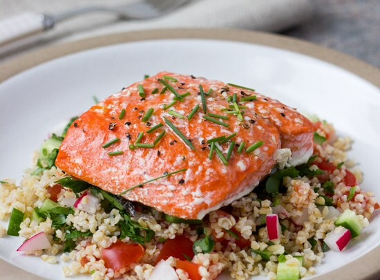 Roasted Salmon with Tabouli